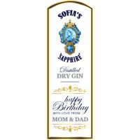 Personalised Stickers Label Anniversary Birthday Wedding Gin Bottle