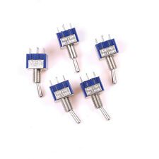 5Pcs 6Pin 3Position ON-OFF-ON DPDT Latching Toggle Switch AC 125V/6A WF