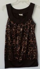 Studio Y sleeveless brown and copper colored top Size small