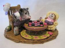 Wee Forest Folk Checker Chums - Ltd Edition Pink & Purples - NIB Only 50 Made