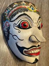 Wayang Topeng Mask Javanese Indonesia Carved Wood Vintage Dance Mask