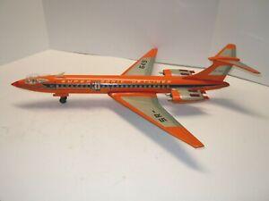 Large Sears/Tomiyama/Japan Tin Friction Supersonic Jet Airplane. WORKS. NICE.NR