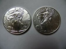 Two  2017  American Silver Eagle Coins