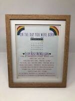 On The Day You Were Born Personalised Print - PINK/BLUE/NEUTRAL - Rainbow Theme