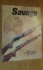 SAVAGE ARMS 1981 Firearms Gun catalog
