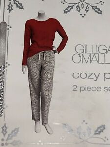 Gilligan O'Malley Cozy Snow Flake And Red Pajamas  2 PC Set Sz Small NWT