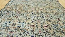 "Rare  Cr1930-1939s Antique 2'10""×9'5'' Wool Pile Floral Hereke Runner  Rug"