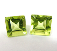 35% OFF 2.21ct SPARKLING Nat Pair of Square Cut Peridot