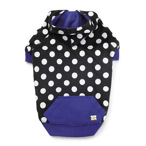 M. Isaac Mizrahi Floral Dot Collection Tie Dog Pullover Tee T-Shirt Pet Hoodie