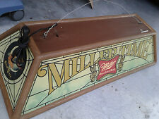 VINTAGE MILLER HIGH LIFE BEER POOL TABLE LIGHT ( GIRL-ON-MOON )