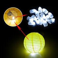10pcs White LED Balloon Lamp Lights Waterproof Paper Lantern Wedding Party Decor