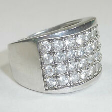 Silpada Cubic Zirconia Channel Set Ring Size 6 .925 Sterling Silver R1405