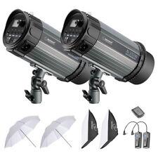 Neewer 600W Studio Strobe Flash Photography Lighting Kit (2)300W Monolight