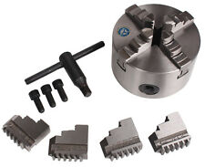 CNC Diameter 100mm Cylinder Center Mounting Four 4-Jaw Self-Centering Chuck