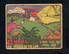 """1936 R60 """"G-Men"""" #214   G-Men Play the Final Ace  """"Good""""   LOOK !"""