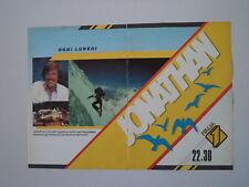 advertising Pubblicità 1986 JONATHAN DIMENSIONE AVVENTURA ITALIA 1 FOGAR