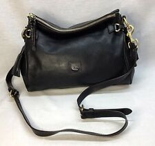 NEW Dooney & Bourke Florentine Leather Medium Zip Crossbody - BLACK