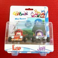 Oddbods Mini Racers Fuse and Jeff Set of 2 Cars Figures Brand New