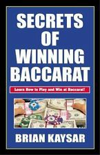 Secrets of Winning Baccarat, Kaysar, Brian, Good Condition, Book