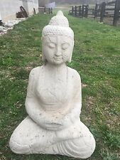 Large Meditating Buddha CEMENT STATUE CONCRETE Lawn Garden Decoration Ornament