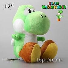 12'' Super Mario Bros Green Yoshi Plush Toys Soft Stuffed Dragon Doll Teddy BNWT
