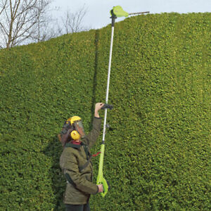 Garden Gear Cordless Telescopic Hedge Trimmer 18V Adjustable Pole & Head