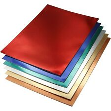 Metallic Card A4 Double Sided x 30 Sheets - Copper Silver Gold Red Blue Green