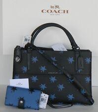 NWT $645 COACH 2PC SET 35875 STAR CANYON BOROUGH BAG  BLUE Phone Clutch 53440