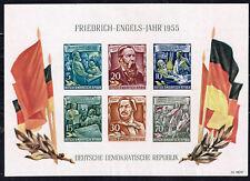 Germany DDR 1953 Communizm Leaders Engels Marx Flags Souvenir Seet MNG
