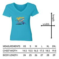 Welcome to Los Angeles LAX Women Junior Girl V-Neck Short Sleeve Top Tee T-Shirt