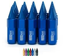 BLUE Tuner Wheel Lug Nuts Bolt 90mm Extended Spike M14x1.5 20pcs Racing Drift