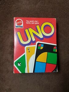 Vintage retro MATTEL 1992 version of UNO Boxed VGC