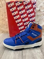 Pony - High Top - Blue/Orange Leather - UK9.5/EU44.5 (RRP £110)