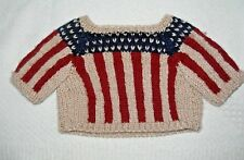 "DOLL or BEAR Patriotic Knit Sweater 8 "" Long, 10"" Wide"