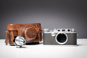 Leica III Camera body with Rangefinder Spool and Case Made in 1935