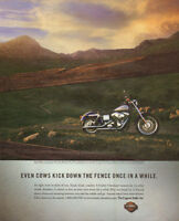 2001 magazine print motorcycle AD Harley Davidson  the Legend Rolls On !  050817