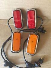 Early Side Marker Lights Set Fits w108 109 w111w113  w114 115 w123 BMW 2002 1800