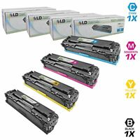 LD Remanufactured Toner Cartridges for HP 125A: Black, Cyan, Magenta, Yellow 4PK
