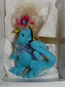 "Beryl Bouffant Deb Canham Dappled Dragons 4"" Ltd Ed Jointed Plush Figure  MIB"