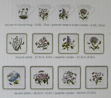 Portmeirion Botanic Garden 12 Piece Square Dinner Set (Service for Four) - NEW