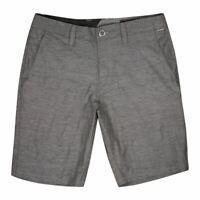 """Volcom Men's Grey Frickin SNT Slub Inseam 9"""" Board Shorts (Waist Size 30"""")"""