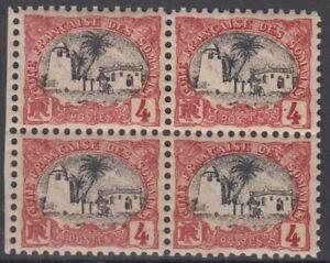 COTE DES SOMALIS : BLOC DE 4 DU N° 55 NEUF ** GOMME COLONIALE SANS CHARNIERE