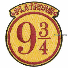 Harry Potter Train Platform 9 3/4  Embroidered IRON ON Patch Badge 2 1/2 x 2 3/4