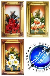 3D Wall Art Frames Leather Flower With Faux leather Leaves Wall Decor