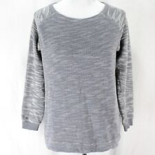 90390e2c Champion Sweatshirt Womens Sz M Gray White Marled Crewneck Pullover Cotton  Top