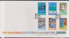 GB-Guernsey 2003 sei decenni di turismo POSTER ART/Europa 03' SG 992/7 FDC