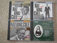 Nat King Cole 4 CD Lot The Jazz Collector Volume 2, 3 & 5 + 101 Strings Tribute