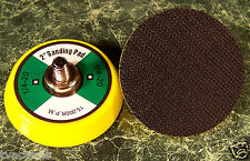 """TWO 2 inch Hook and Loop Replacement SANDING PADS 1/4""""x 20 15,000RPM"""