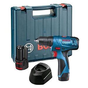 Bosch Professional GSB 1080 2 Li 2x 1.5 Ah Batteries Charger Carry Case NEW UK