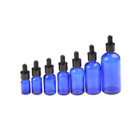 5 -100ml Blue Empty Glass Bottle Pipettenflasche Dropper Amber Essential Oil S6